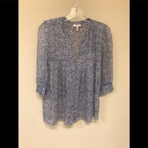 Joie silk Blue and white print blouse Size XS